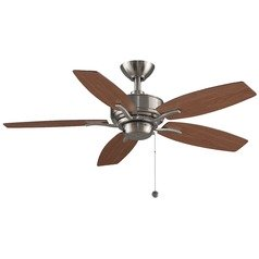 Fanimation Fans Aire Delux Brushed Nickel Ceiling Fan Without Light