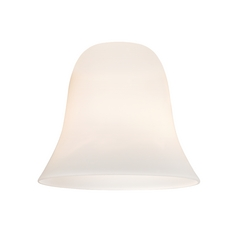 Satin White Bell Glass Shade - Lipless with 1-5/8-Inch Fitter Opening