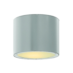 Modern LED Close To Ceiling Light with Etched in Titanium Finish
