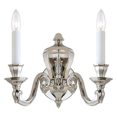 Sconce Wall Light in Polished Nickel Finish