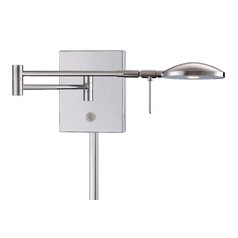 Modern LED Swing Arm Lamp in Chrome Finish