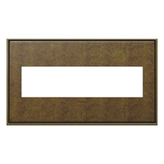 Legrand Adorne Aged Brass 4-Gang Switch Plate
