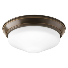 Progress Lighting LED Flush Mount Antique Bronze LED Flushmount Light