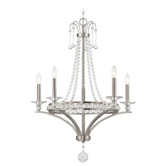 Savoy House Lighting Alana Satin Nickel Chandelier