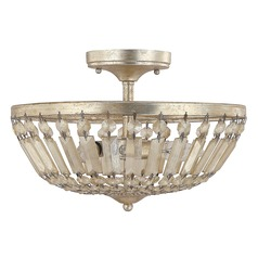 Capital Lighting Fifth Avenue Winter Gold Semi-Flushmount Light