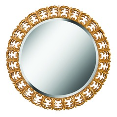 Bontemps Round 34-Inch Decorative Mirror by Kenroy Home
