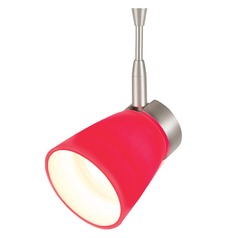 WAC Lighting Mint Brushed Nickel Track Light with Red Shade