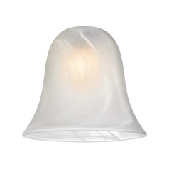 Alabaster Bell Glass Shade - Lipless with 1-5/8-Inch Fitter Opening