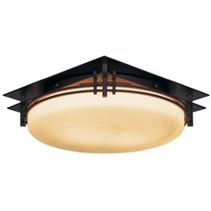 Art Deco Flushmount Light Bronze by Hubbardton Forge Lighting