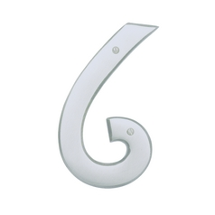 House Number in Brushed Nickel Finish