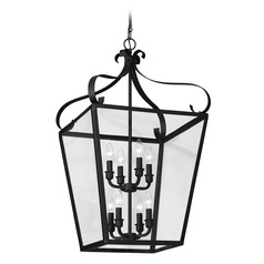Sea Gull Lighting Lockheart Blacksmith Pendant Light with Square Shade
