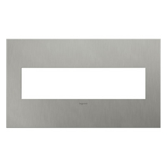 Legrand Adorne Brushed Stainless Steel 4-Gang Switch Plate