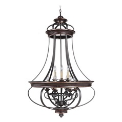 Jeremiah Lighting Stafford Aged Bronze/textured Black Pendant Light