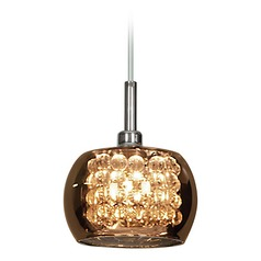 Access Lighting Glam Chrome Mini-Pendant Light with Bowl / Dome Shade