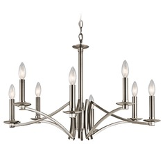 Kichler Grayson 8-Light Chandelier in Classic Pewter