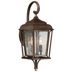 Seeded Glass Outdoor Wall Light Bronze Minka Lavery