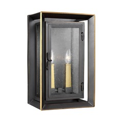 Feiss Lighting Urbandale Antique Bronze / Painted Burnished Brass Outdoor Wall Light