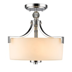 Golden Lighting Evette Chrome Semi-Flushmount Light