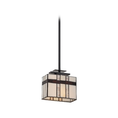 Quoizel Lighting Mini-Pendant Light with Beige / Cream Glass TFLU1508K