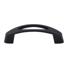 Modern Cabinet Pull in Flat Black Finish