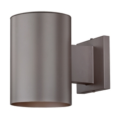 Bronze Cylinder Outdoor Wall Down Light