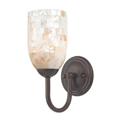 Design Classics Lighting Sconce with Mosaic Glass in Bronze Finish 593-220 GL1026D