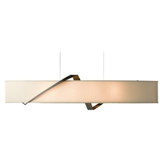 Hubbardton Forge Lighting Stream Bronze Island Light with Oval Shade