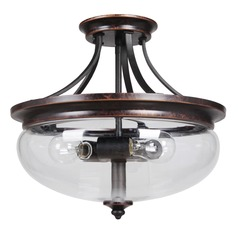 Craftmade Stafford Aged Bronze/textured Black Semi-Flushmount Light