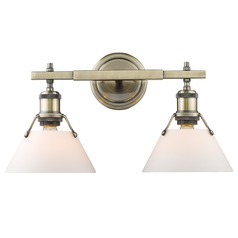 Golden Lighting Orwell Ab Aged Brass Bathroom Light