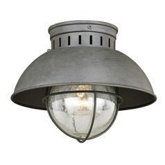 Harwich Textured Gray Outdoor Ceiling Light by Vaxcel Lighting