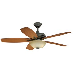 Valencia Vintage Bronze Ceiling Fan with Light by Vaxcel Lighting