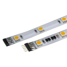 24V LED Tape Light 12-Inch 3000K White by WAC Lighting
