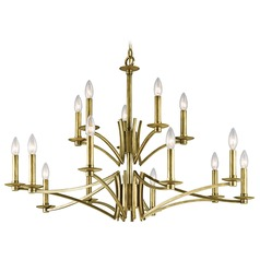 Kichler Grayson 2-Tier 15-Light Chandelier in Natural Brass