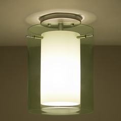 Besa Lighting Pahu Satin Nickel LED Semi-Flushmount Light