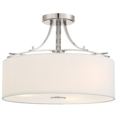 Minka Poleis Brushed Nickel Semi-Flushmount Light