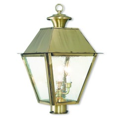 Livex Lighting Mansfield Antique Brass Post Light