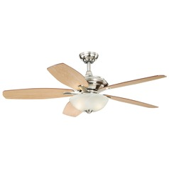 Valencia Satin Nickel Ceiling Fan with Light by Vaxcel Lighting