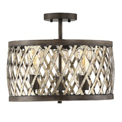 Savoy House Lighting Sandoval Fiesta Bronze Semi-Flushmount Light