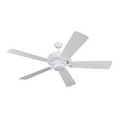 Ceiling Fan Without Light in White Finish