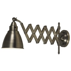 Swing Arm Lamp in Antique Nickel Finish