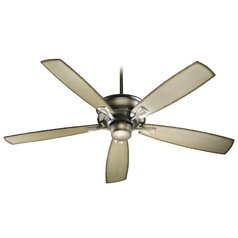 Quorum Lighting Alton Antique Flemish Ceiling Fan Without Light