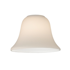 Bell Glass Shade in Satin White - Lipless with 1-5/8-Inch Fitter