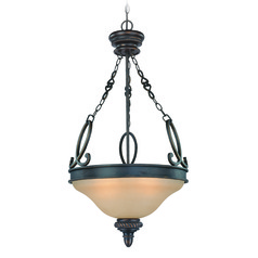 Craftmade Highland Place Mocha Bronze Pendant Light with Bowl / Dome Shade