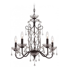 Mini-Chandelier in Aged Kinston Bronze Finish