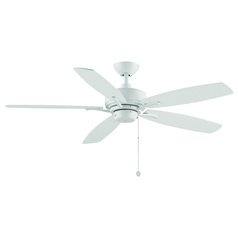 Fanimation Fans Aire Delux Matte White Ceiling Fan Without Light