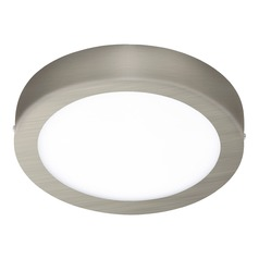 Eglo Fueva 1 Matte Nickel LED Flushmount Light