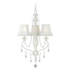 Bristol Antique Ivory Mini-Chandelier by Vaxcel Lighting