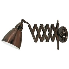 Swing Arm Lamp in Copper Bronze Finish