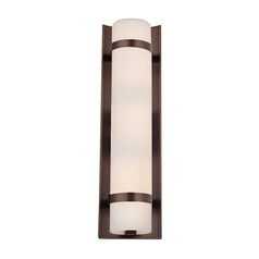 Design Classics Lighting Bronze Vertical Wall Indoor / Outdoor Light - 15-1/4-Inches Tall 118-220