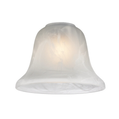 Alabaster Glass Bell Shade - 1-5/8-Inch Fitter Opening